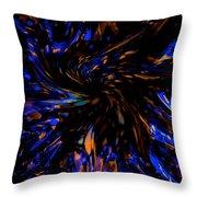 Blue Wormhole Nebula Throw Pillow