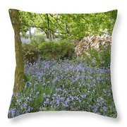 Bluebells On Dartmoor Throw Pillow