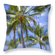 Blurry Palms Throw Pillow