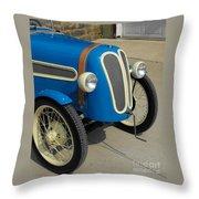 Vintage Bmw Racer Throw Pillow