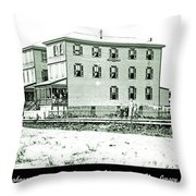 Boardinghouses And Cottages Atlantic City New Jersey C 1900 Throw Pillow