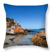 Boat Harbour Beach Throw Pillow