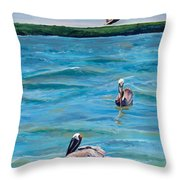 Boating In Fort Myers Throw Pillow