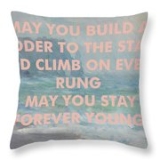 Bob Dylan Art Print Throw Pillow