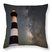 Bodie Island Lighthouse Milky Way Throw Pillow