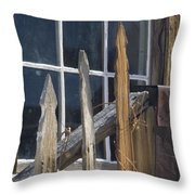 Bodie Picket Fence And Window Throw Pillow