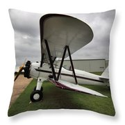 Boeing Stearman M7 Throw Pillow