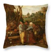 Boer Fisticuffs Throw Pillow