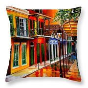 Bold Vieux Carre Throw Pillow