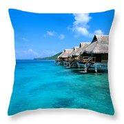 Bora Bora Lagoon Resort Throw Pillow