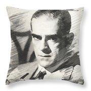 Boris Karloff, Vintage Actor Throw Pillow
