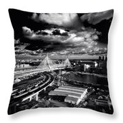 Boston's Big Dig Throw Pillow