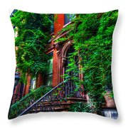 Botanical Village Throw Pillow