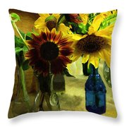 Bottled Sunshine  Throw Pillow