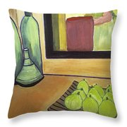 Bottles And Pears No 2 Throw Pillow