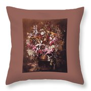 Bouquet Of Orchids Throw Pillow