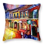 Bourbon Street Red Throw Pillow by Diane Millsap