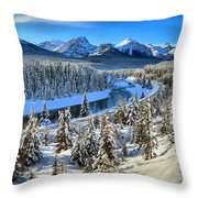 Bow Valley Winter View Throw Pillow