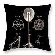 Boxing Punch Bag Patent 1885 Throw Pillow