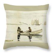 Boys Fishing Throw Pillow