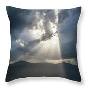 Breaking The Clouds Throw Pillow