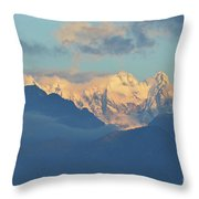 Breathtaking Landscape Of The Dolomites Mountains In Italy  Throw Pillow