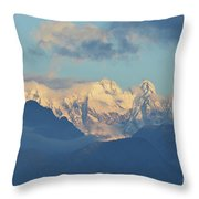 Breathtaking Scenic View Of The Alps In Italy  Throw Pillow