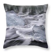 Brethamerkursandur Iceberg Beach Iceland 2588 Throw Pillow