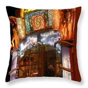 Brewery Gulch Color In Bisbee Throw Pillow