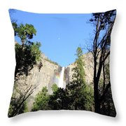 Bridal Falls Rainbow Throw Pillow
