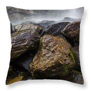 Bridal Veil Falls - Highlands, Nc Throw Pillow
