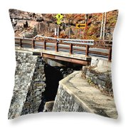Bridge By Kaaterskill Falls 1 Throw Pillow