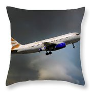 British Airways Airbus A319-131 Throw Pillow