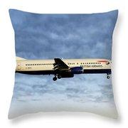 British Airways Boeing 737-436 Throw Pillow