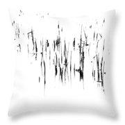Brushstrokes Throw Pillow