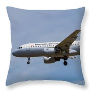Brussels Airlines Airbus A319 Throw Pillow