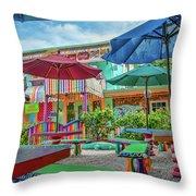 Bubble Room Restaurant - Captiva Island, Florida Throw Pillow