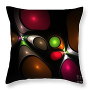 Bubbleshock Throw Pillow