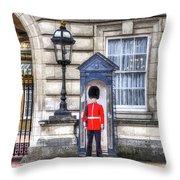 Buckingham Palace Queens Guard Art Throw Pillow