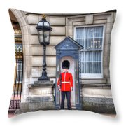 Buckingham Palace Queens Guard Throw Pillow
