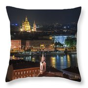 Budapest, Danube River, Hungary Throw Pillow