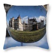 Budapest Globe - Houses Of Parliament Throw Pillow