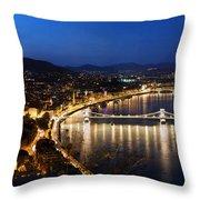 Budapest. View From Gellert Hill Throw Pillow by Michal Bednarek