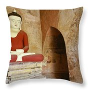 Buddha In A Niche Throw Pillow