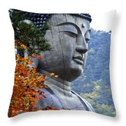 Buddha In Autumn Throw Pillow