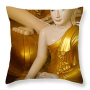 Buddhas In Burma Throw Pillow