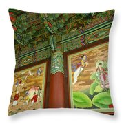 Buddhist Murals Throw Pillow