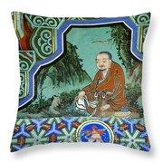 Buddhist Temple Art Throw Pillow