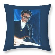 Buddy Holly Throw Pillow