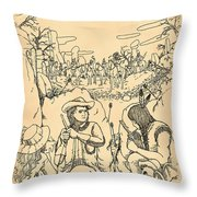 Buffalo Bill And Standing Buffalo Throw Pillow